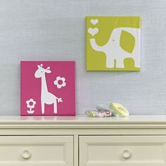 Safari Canvas Wall Art - Cute Idea for a baby shower gift