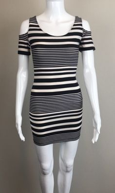 Cool Amazing Planet Gold Macy's Striped Cold-Shoulder Bodycon Dress Black Cream Sz XS 2017/2018 Check more at http://mydresses.ga/fashion/amazing-planet-gold-macys-striped-cold-shoulder-bodycon-dress-black-cream-sz-xs-20172018/