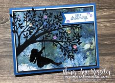 Silhouette Scenes by stampinmak - Cards and Paper Crafts at Splitcoaststampers Serene Silhouettes, Keep Dreaming, Pocket Scrapbooking, Stampin Up Catalog, Congratulations Card, Scene Photo, Stamping Up, Creative Cards, Kids Cards