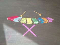 Waldorf ~ 1st grade ~ Letter: X ~ Xylophone ~ chalkboard drawing