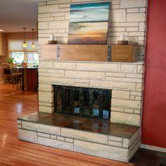 Belham Living Rustic Timber Beam Fireplace Mantel - Fireplace Mantels & Surrounds at Hayneedle Fireplace Mantel Kits, Wood Mantel Shelf, Fireplace Mantel Surrounds, Diy Mantel, Wood Mantels, Rustic Fireplaces, Fireplace Remodel, Modern Fireplace, Mantel Ideas