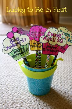 Celebrate your students with these fun Birthday Pencil Toppers! {FREEBIE}