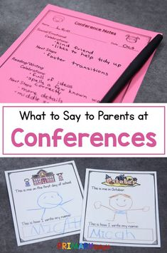 Teacher Discover What to Say at Parent Teacher Conferences Are you wondering what to say at parent teacher conferences? Learn tips for preschool kindergarten and first grade. Get a FREE conference planning form. Preschool Teacher Tips, Kindergarten Teachers, Teacher Hacks, Teacher Resources, Preschool Learning, Teaching Tips, Learning Activities, Parent Teacher Conference Forms, Parent Teacher Communication