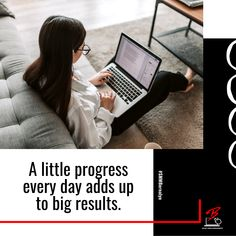 A little progress every day adds up to big results. Social Media Branding, Success Quotes, Ads