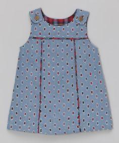 Red Plaid & Denim Reversible Jumper - Infant & Toddler