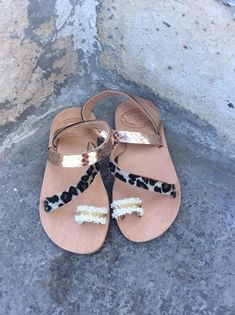 Check out this item in my Etsy shop https://www.etsy.com/listing/580750107/girls-sandalsboho-leopard-girls