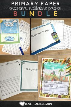 Students can practice handwriting with this fun seasonal paper packet. This lined paper is completely editable! Great for sentence starters, writing prompts, or custom reading responses. Customize a name, address, and phone number tracing sheet. You can also leave the lines completely blank to use simply as lined paper. This is an editable PDF for writing prompts and tracing with a single embedded primary font. Primary Teaching, Teaching Writing, Teaching Resources, Print Handwriting, Handwriting Practice, Writing Ideas, Writing Prompts, Teaching Calendar, Primary English
