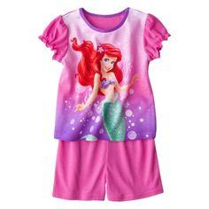 Disney® Princeses Infant Toddler Girls' Ariel 2-Piece Pajama Set