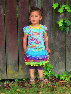 21100 Girls Fun Tee Girls Fun, Under Dress, Your Girl, Cool Tees, Knitted Fabric, Seasons, Patterns, Knitting, Long Sleeve
