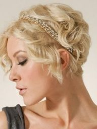 Formal short hair - don't think I would actually be able to do this on my own, but maybe with some help.  Love the headband look.