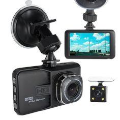 2017 New Lens Dual Camera DVR Full HD 1080P Dual Lens rear cam Dash Cam Video Recorder 2 Camera Night Vision Car DVR Camcorder