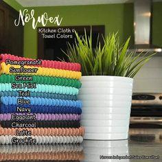 Norwex kitchen cloth colors www. Norwex Biz, Norwex Cleaning, Cleaning Chemicals, Green Cleaning, Cleaning Hacks, Norwex Products, Norwex Cloths, Facebook Party, Clean Microfiber