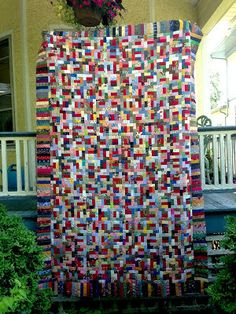 In making a scrap quilt, there is planning done at the beginning, then messing with that plan and adding other rules as I go along.  When...