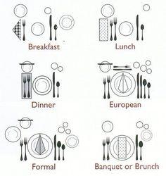 place settings I like i nice set table. The food taste better.  sc 1 st  Pinterest & Arrangement of Cutlery u2013 Like Home | Pinterest | You ve Table ...