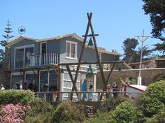 Beloved Chilean poet, Pablo Neruda's Home: Isla Negra. A great day trip from Santiago, Chile.