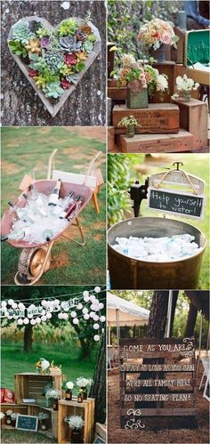 Rustic Country Wedding Decoration Ideas and Theme / http://www.deerpearlflowers.com/perfect-ideas-for-a-rustic-wedding/