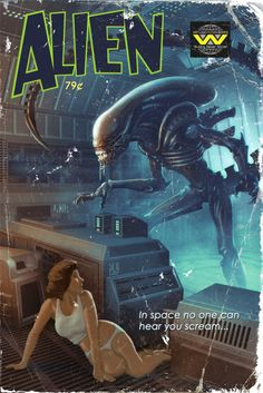 """Alien Pulp Cover 11""""x17"""" by Timothy Anderson"""