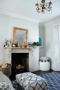 Madeline Weinrib Indigo Chi Chi Kari Cotton Carpet In The London Home Of  @Sabina,