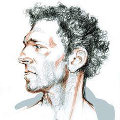 Vincent Cassel, Amazing Art, Sketches, Illustrations, Draw, Illustration, Doodles, Illustrators, Sketch