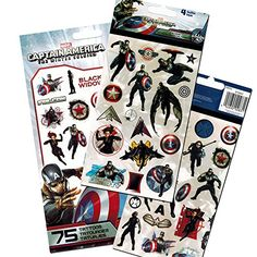 Avengers Captain America Stickers & Tattoos Party Favor Pack (60 Stickers & 75 Temporary Tattoos) Avengers http://www.amazon.com/dp/B00VC51O8E/ref=cm_sw_r_pi_dp_BUgHvb0FTJMYB