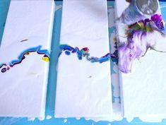 Full video in link❤ - - Triptych acrylic pouring favourite! Full video in link❤ Bilder Fluid Art Malerei Triptychon Rinske Douna Acrylic Pouring Techniques, Acrylic Pouring Art, Acrylic Art, Flow Painting, Pour Painting, Splatter Paint Canvas, Triptych Art, Abstract Art, Link Art