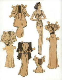 Etta Kett - vintage paper doll