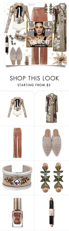 """Wonderful You"" by freida-adams ❤ liked on Polyvore featuring Elisabetta Franchi, Valentino, Alberta Ferretti, Barry M, NYX, Kismet by Milka, topsets, polyvorecommunity, topset and winterstyle"