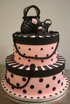 pink hat boxes Cake