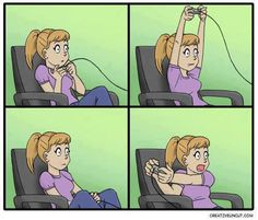 This is how I play playstation :)     or sega because thats as far as my knowledge of video games goes!