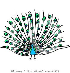cute peacock clip art | Royalty-Free (RF) Peacock Clipart Illustration by Prawny - Stock ...