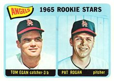 486 - Angels Rookies - Tom Egan - Pat Rogan RC