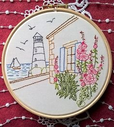 Ile de Ré France-Inspired Embroidery Kit   Modern Embroidery Kits for Beginners