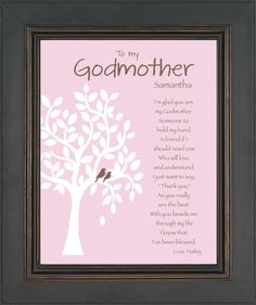 GODMOTHER Gift  Personalized Godmother Print by KreationsbyMarilyn, $15.00