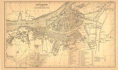 Gothenburg City Plan Vintage Street Map Sweden 1898 Goteborg Black and White. $16.00, via Etsy.