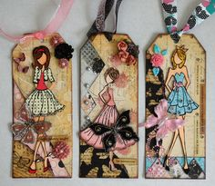 Prima-Julie Nutting Doll Stamp tags.