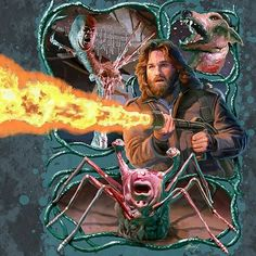 On June 25, 1982, Director John Carpenter's The Thing premiered in theaters! This is one of my favorite movies. Sadly, I have never seen it in a theater. The attached art is by Mark Maddox.