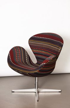 Danish company Fritz Hansen is working with Maharam and Kvadrat for the launch of Point by Paul Smith. British Designer Paul Smith is known for his vibrant textiles and his reimagining of traditional Scottish Fair Isle knitting is evident in his new Point collection.