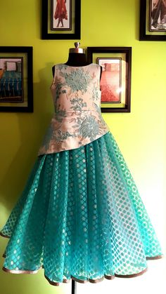 #MOHHO by A&N #galsFLAUNTinGOWN #galsWEAR #kidsWEAR Frocks For Girls, Dresses Kids Girl, Girl Outfits, Kids Blouse Designs, Kids Ethnic Wear, Kids Dress Patterns, Kids Gown, Frock Design, Indian Designer Wear