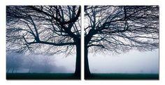 Baxton Studio Morning Haze Mounted Photography Print Diptych