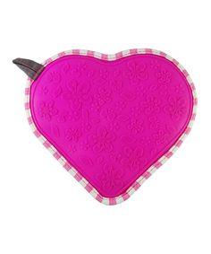 Gingham & Pink Heart Hot Mat