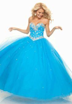 Blue princess prom dress, just add sleeves :) Princess Prom Dresses, Prom Dresses Blue, Ball Dresses, Pretty Dresses, Homecoming Dresses, Beautiful Dresses, Formal Dresses, Unconventional Wedding Dress, Cheap Wedding Dress