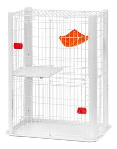 Iris Slim Cat Cage, White