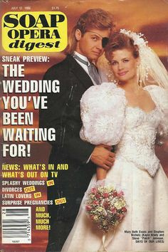 Stephen Nichols & Mary Beth Evans (Steve & Kayla #DAYS) 7/12/88 http://classicsodcovers.tumblr.com/
