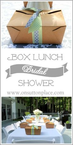 Box Lunch Bridal Shower//maybe for get-togethers/DIY craft days?!