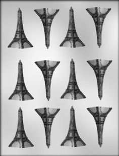 Amazon.com: CK Products 2-Inch Eiffel Tower Chocolate Mold: Kitchen & Dining