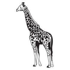 "Style and Apply Giraffe II Wall Decal Size: 59"" H x 37"" W, Color: Royal Blue"