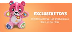 Now you can buy branded toys for kids like: Barbie dolls, Funskool, Hot Wheels, Intex Pools for Kids and more toys & games,also new born babies products  online form Cleverfishtoys.com