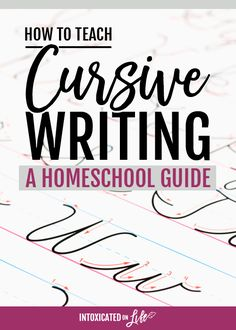 How to Teach Cursive Writing a Homeschool Guide is part of School subjects Calligraphy - We teach cursive writing not because we love it but because we want our kids to love learning, and the ability to quick and legibly write is a good start Teaching Cursive Writing, Learning Cursive, Cursive Writing Worksheets, Writing Resources, Essay Writing, Teaching Resources, Writing Lessons, Learn Handwriting, Improve Your Handwriting