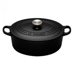 Le Creuset Oval Casserole - Satin Black - 27cm