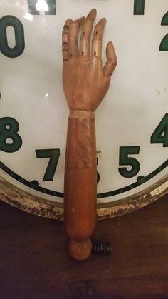 Vintage wooden articulating mannequin arm by SuperNiftyVintage